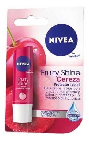Nivea Protector Labial Fruity Shine Cereza X 4,8 Gr