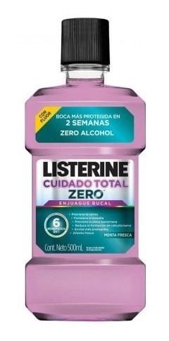 Enjuague Bucal Listerine Cuidado Total Zero 500 Ml