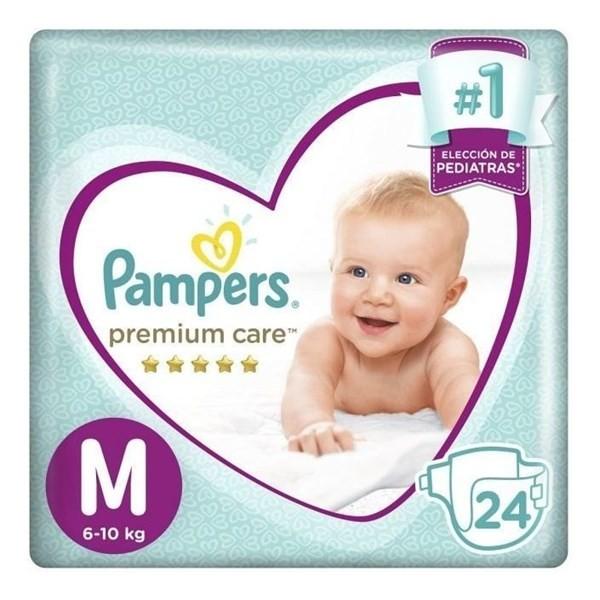 Pampers Pañales Premium Care M X 24 Un