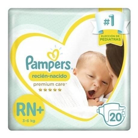 Pampers Pañales Recién Nacido Rn+ X 20 Un