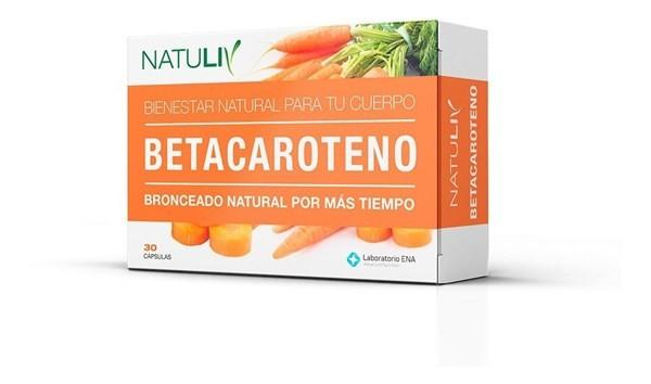 Natuliv Betacaroteno 30 Cápsulas