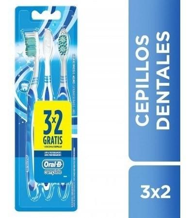 Cepillo Dental Oral B Complete Limpieza Profunda 3 X 2