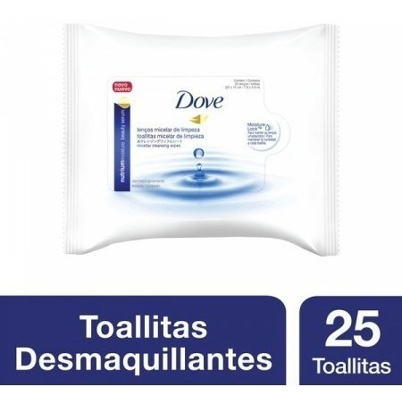Toallitas Humedas Dove Desmaquillantes Con Agua Micelar X25