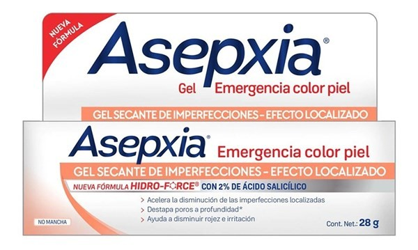 Asepxia Gel Emergencia Color Piel 28g