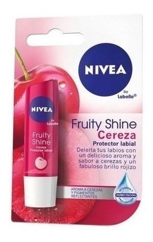 Nivea Protector Labial Fruity Shine Cereza X 4,8 Gr