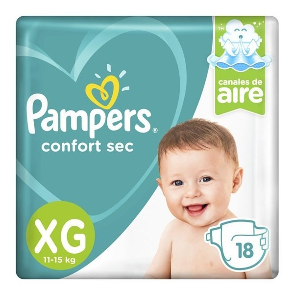 Pañales Pampers Confort Sec Xg 18 Unidades