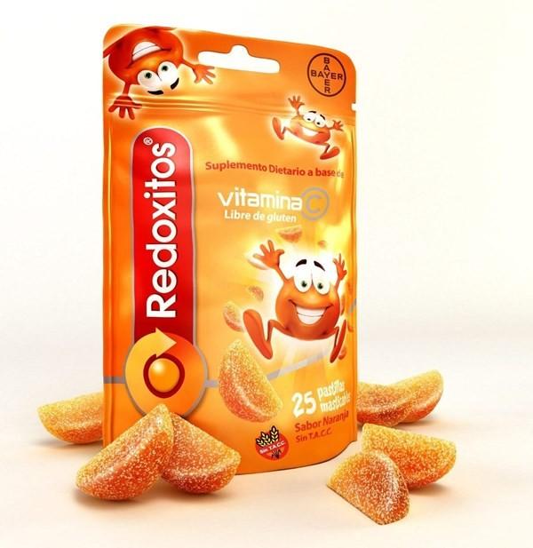 Redoxitos Vitamina C Sachet 25 Gomitas Naranja