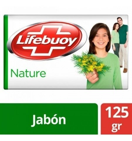 Jabón Antibacterial Lifebuoy Nature Barra 125g