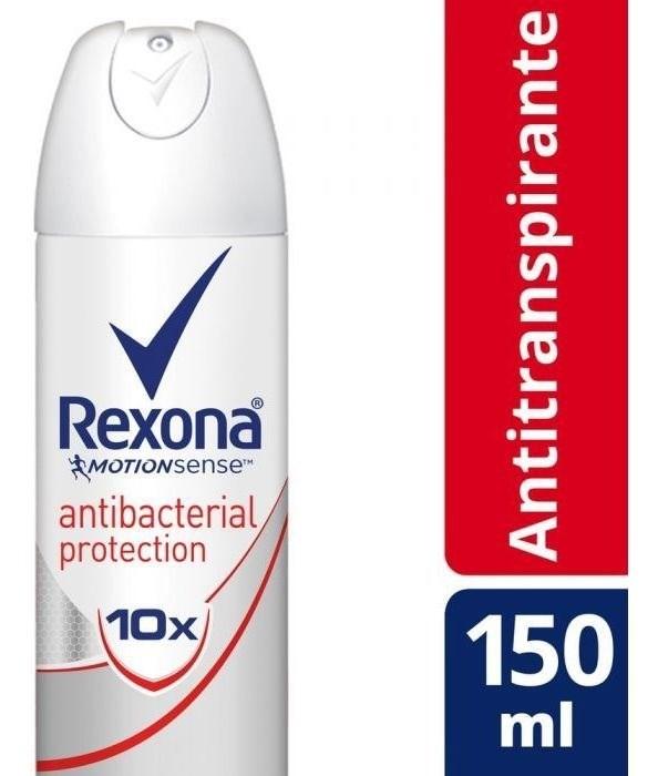 Desodorante Rexona Antitranspirante Antibacterial 150ml