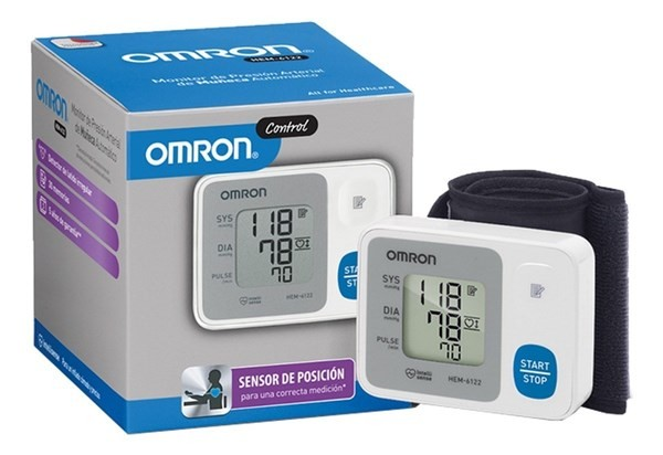 Tensiometro Digital Omron De Muñeca Control Hem-6122