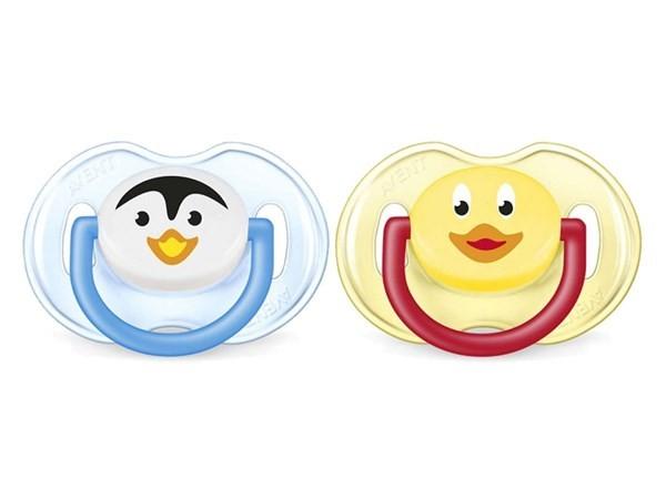 Avent Chupete Classic Pingüino Y Patito 6 - 18 Meses Nena #1