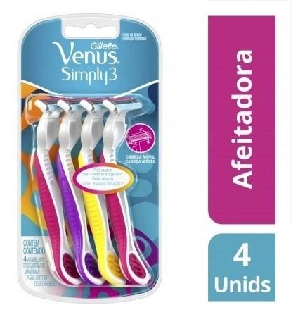 Máquinas De Afeitar Gillette Simply3 Venus 4 Un