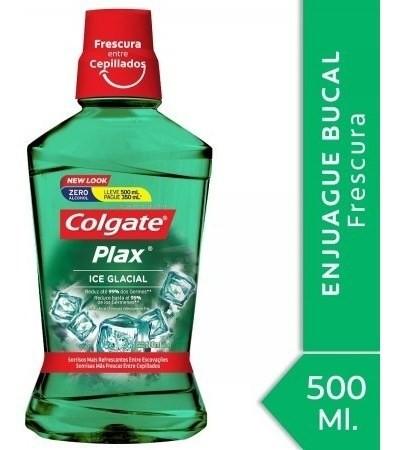 Enjuague Bucal Colgate Plax Ice Glacial 500ml Promo Lleve 50