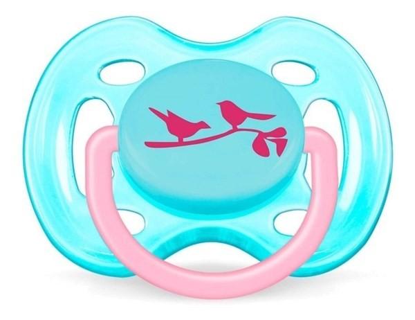 Avent Chupete Anatomico Flujo Libre 0-6 Meses Nene Pajaritos