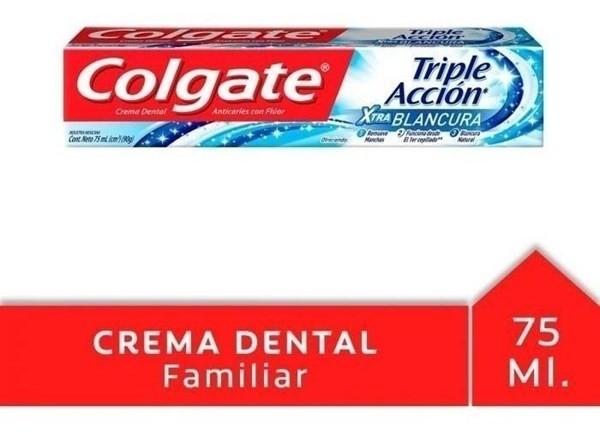 Crema Dental Colgate Triple Acción Extra Blancura 75ml #1