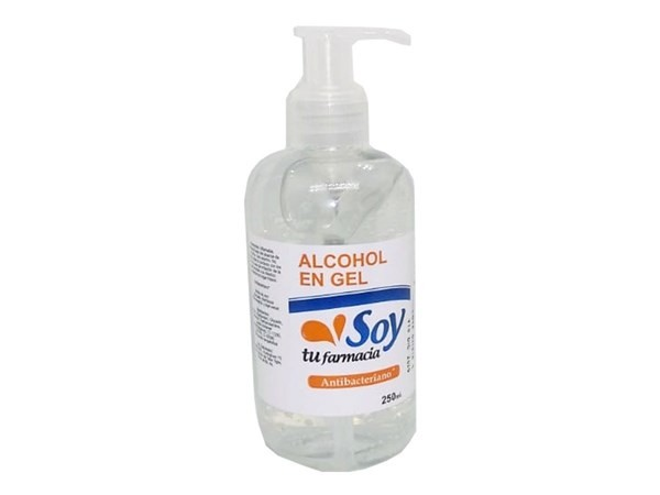 Alcohol En Gel Soy Tu Farmacia Antibacterial 250ml
