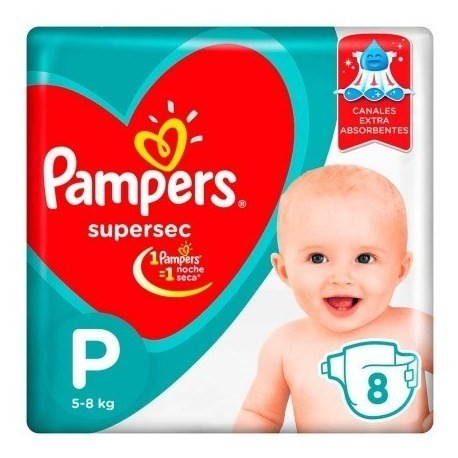 Pampers Pañales Supersec P X 8 Un