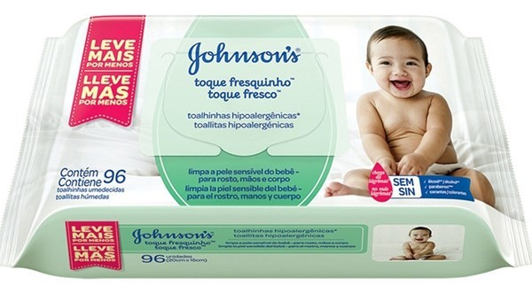 Toallitas Humedas Johnson's Baby Toque Fresco X96