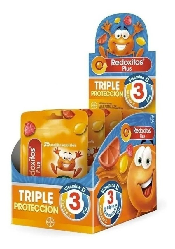 Redoxitos Plus Triple Proteccion Vitaminas Masticables X 150