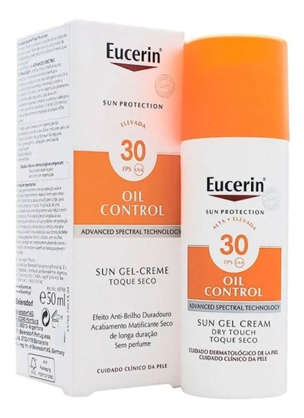 Eucerin Solar Gel Crema Oil Control Toque Seco Fps 30 X50 Ml #1