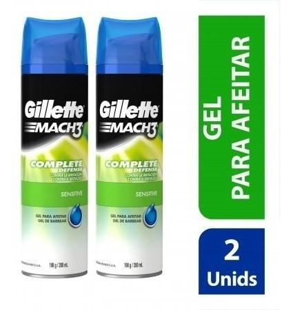 Gel De Afeitar Gillette Mach3 Sensitive 400 Ml Pack X 2 Un