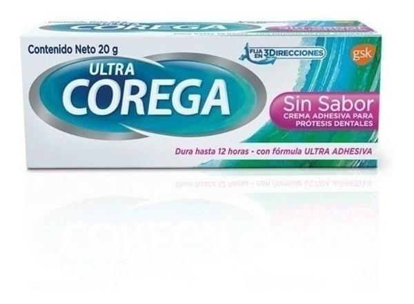 Adhesivo Para Prótesis Dentales Ultra Corega Polvo 22gr.