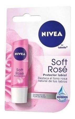Nivea Protector Labial Soft Rose X 4,8 Gr