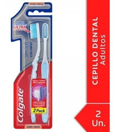 Cepillo Dental Colgate Slim Soft Ultra Compact Head 2 Unidad