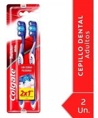 Cepillo Dental Colgate Twister White Suave 2 Unidades