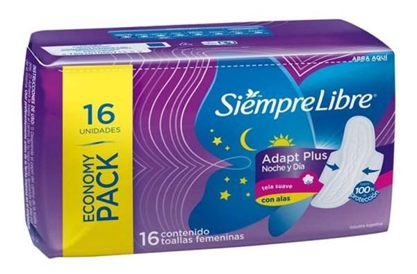 Siemprelibre Toalla Femenina Noche Y Dia X16