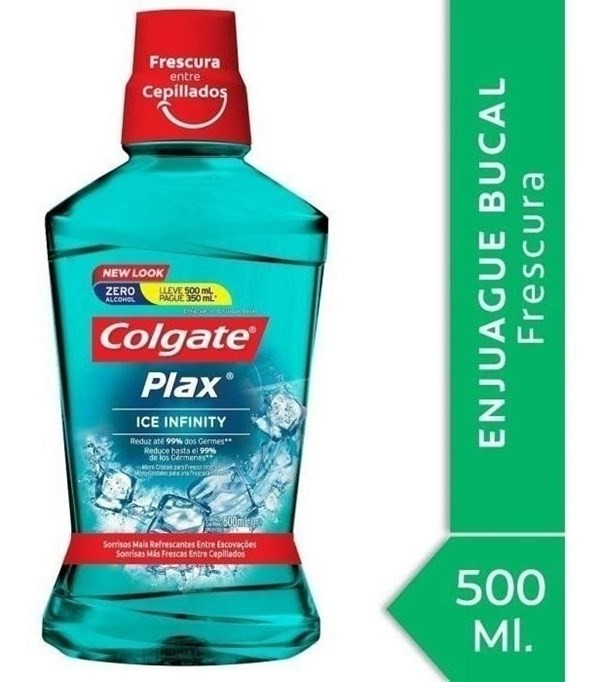 Enjuague Bucal Colgate Plax Ice Infinity 500ml Promo Lleve 5
