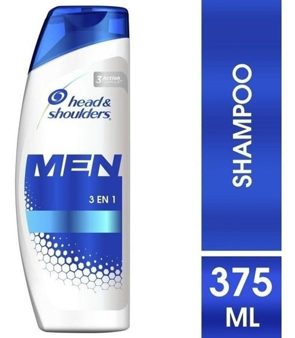 Shampoo Head & Shoulders 3en1 Para Hombres 375 Ml