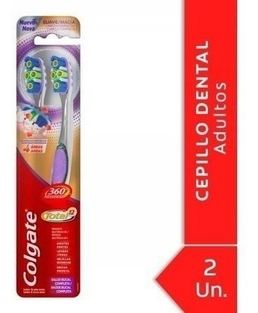 Cepillo Dental Colgate 360º Advanced Total 12  (2 Unidades)
