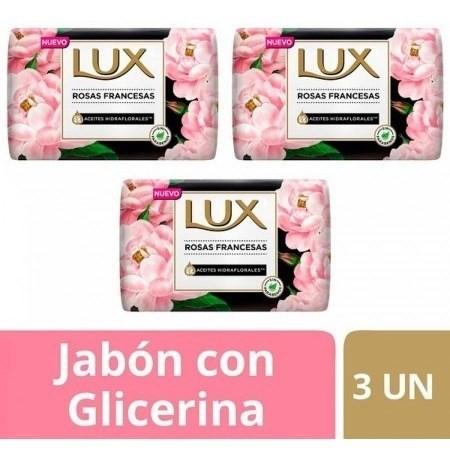 Jabon Lux Rosas Francesas Barra 3un X125g