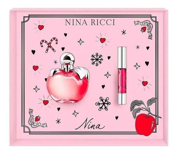 Perfume Importado Mujer N.ricci Nina Edt 80 Ml + Lipstick