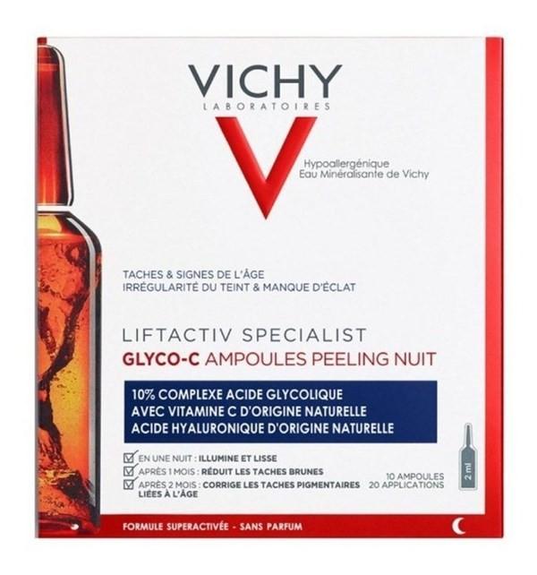 Vichy Lifactiv Ampolla 10un Glyco C Peeling Noche