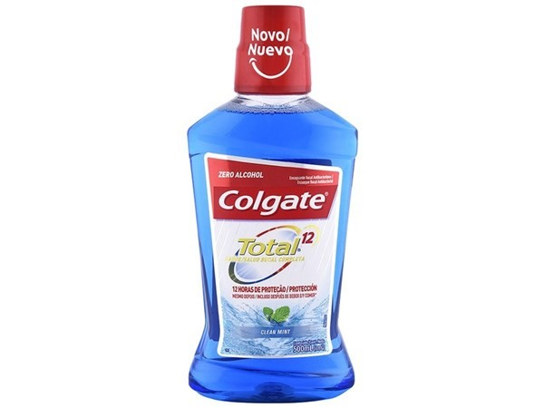 Colgate Enjuague Bucal Total 12 Clean Mint 500ml