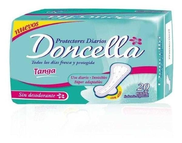 Protectores Diarios Doncella Tanga Con Alas Sin Deo X20u