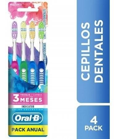 Cepillos Dentales Oral B Indicator Pack Anual X 4 Un
