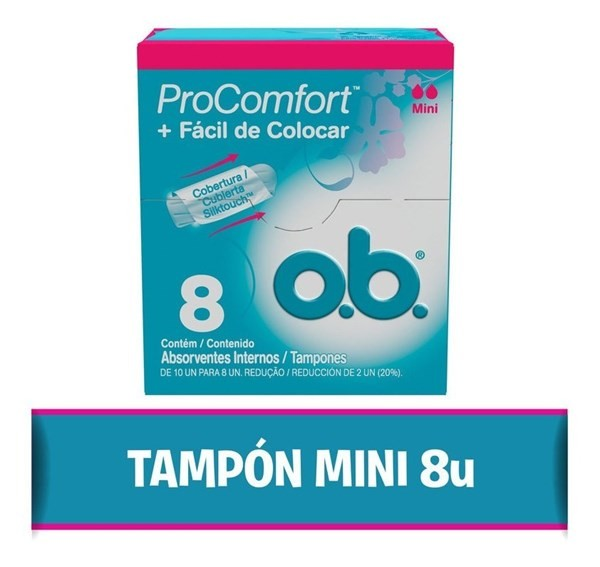 O.b Tampones. Procomfort® Mini X 8un.