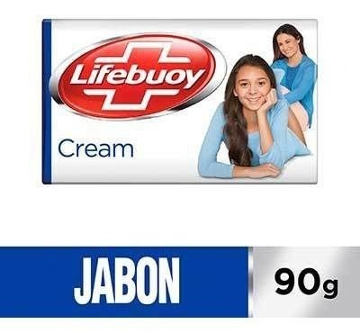 Jabón Antibacterial Lifebuoy Cream Barra 90g