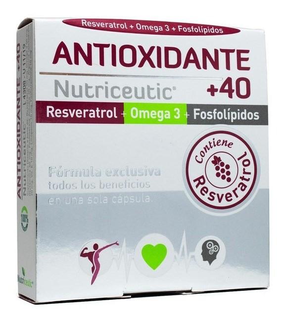 Nutriceutic Suplemento Dietario Antioxidante +40 X32caps