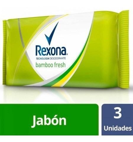 Jabón Rexona Bamboo Fresh 3un X125g