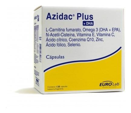 Azidac Plus Dha Fertilidad Masculina Eurolab 120 Cápsulas