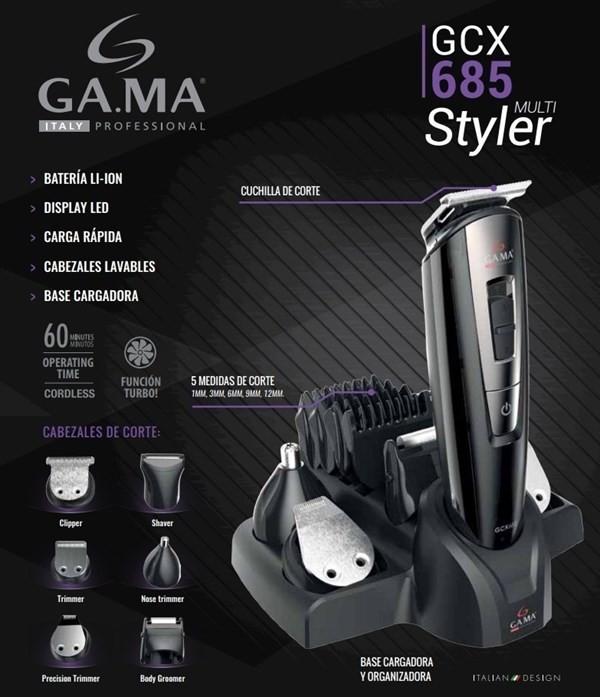 Cortadora De Pelo Gama Gcx685 Trimmer Afeitadora 6 Cabezales alt