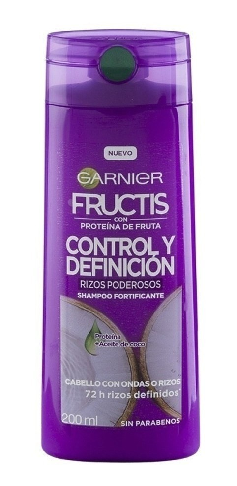 Garnier Fructis Shampoo Fortificante Rizos Poderosos 200ml