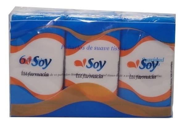 Pañuelos Descartables Soy Tu Farmacia 6 Paquetes X10 Unidad