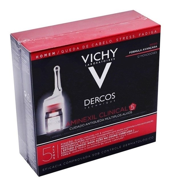 Vichy Dercos Aminexil Clinical 5 Hombre X 12 Ampollas