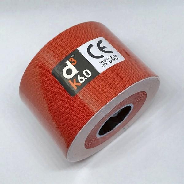 Cinta Adhesiva Kinesiológica D3 Tape Spider Tech Roja X6m
