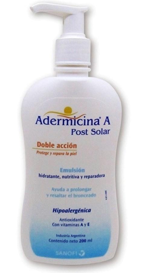 Adermicina A Emulsión Post Solar Doble Acción 200ml